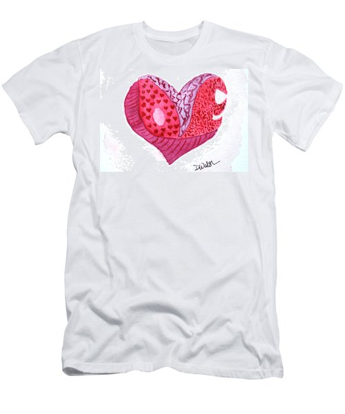 Men's T-Shirt (Slim Fit) featuring the painting Love Heart by Donna Walsh
