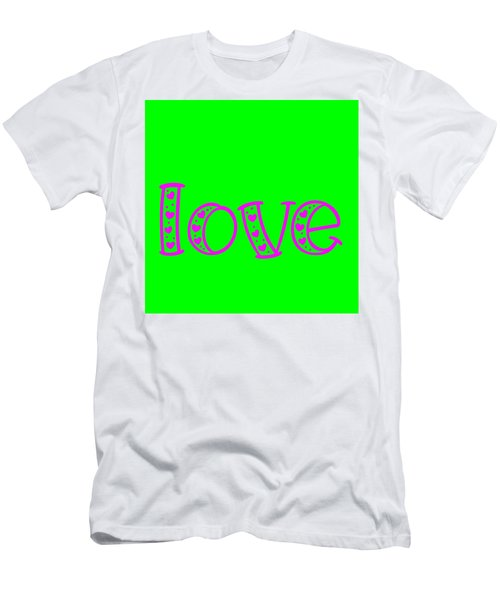 Love In Magenta And Green Men's T-Shirt (Athletic Fit)