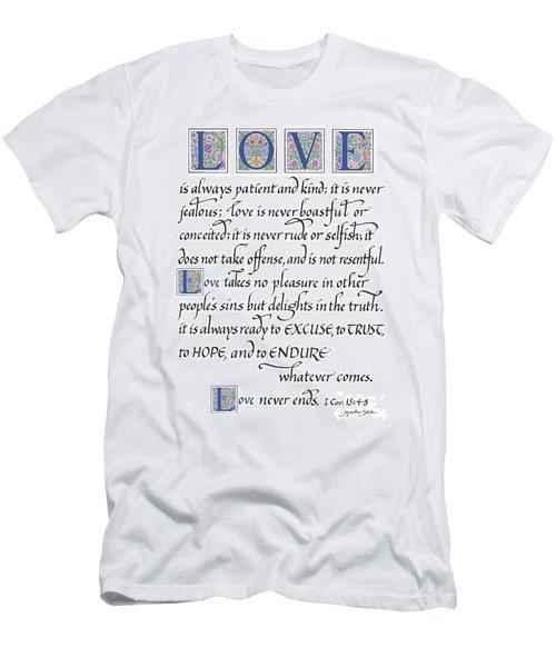 Love Is Always Patient Men's T-Shirt (Athletic Fit)
