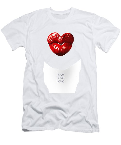 Love Poster Men's T-Shirt (Athletic Fit)