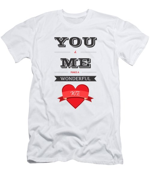 Love Lyrics Quotes Typography Quotes Poster Men's T-Shirt (Athletic Fit)