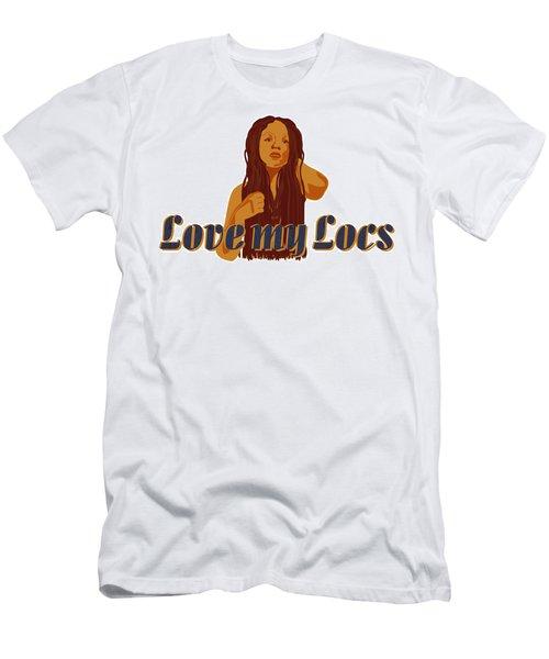Love My Locs Men's T-Shirt (Athletic Fit)