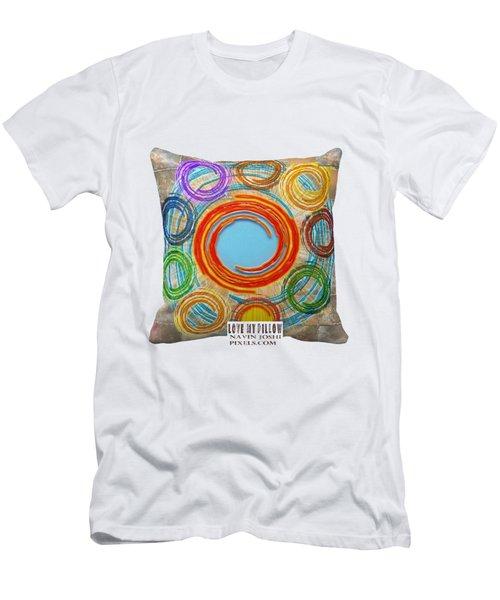 Love My Pillows Colorful Circles By Navinjoshi Artistwebsites Fineartamerica Pixels Men's T-Shirt (Athletic Fit)