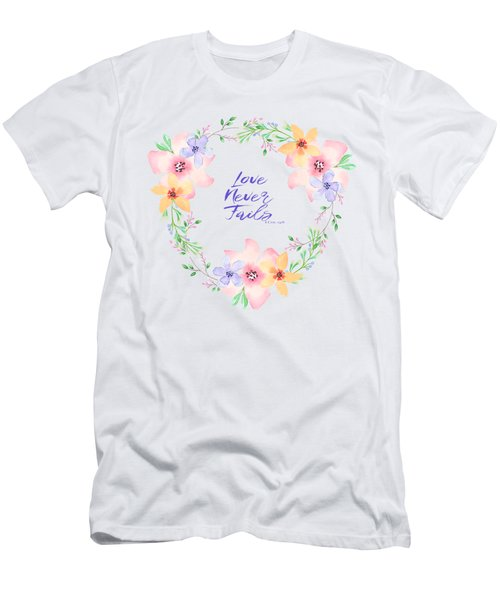 Love Never Fails Men's T-Shirt (Athletic Fit)