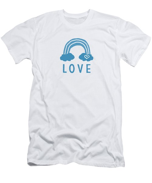 Love Rainbow- Art By Linda Woods Men's T-Shirt (Athletic Fit)