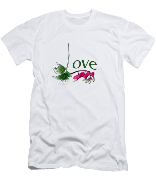 Men's T-Shirt (Slim Fit) featuring the digital art Love Shirt by Ann Lauwers