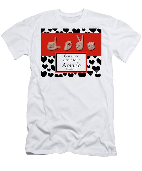 Love Spanish Bw Graphic Men's T-Shirt (Athletic Fit)