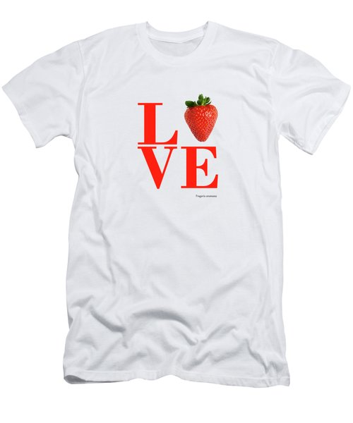 Love Strawberry Men's T-Shirt (Athletic Fit)