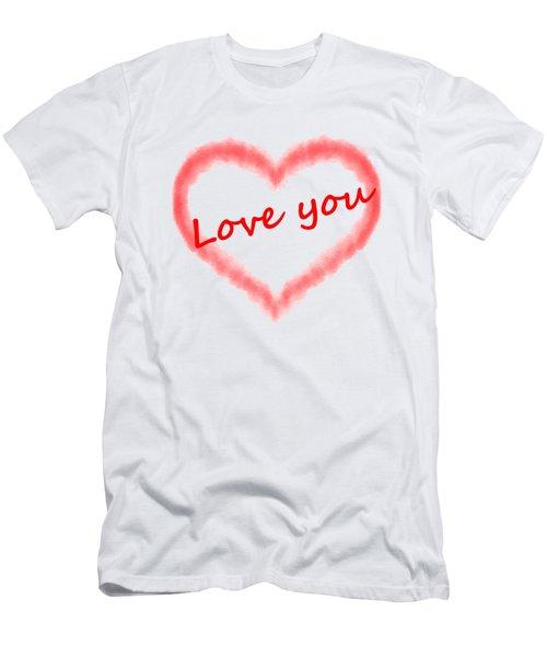 Love You Men's T-Shirt (Slim Fit) by Roger Lighterness