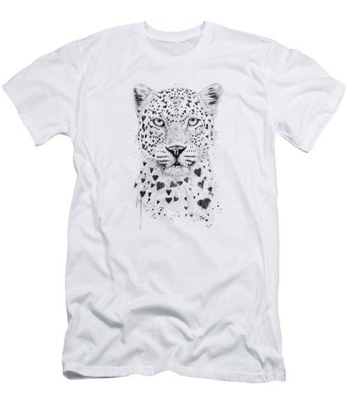 Lovely Leopard Men's T-Shirt (Athletic Fit)