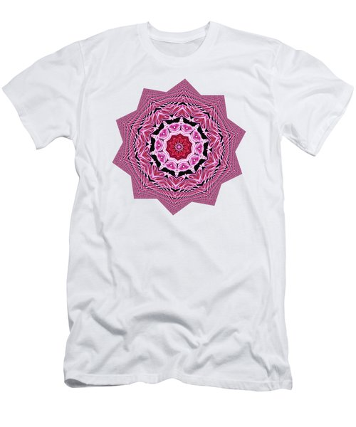 Loving Rose Mandala By Kaye Menner Men's T-Shirt (Athletic Fit)