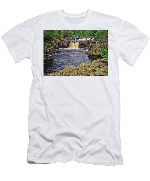 Low Force Waterfall, Teesdale, North Pennines Men's T-Shirt (Athletic Fit)