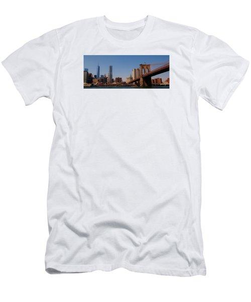 Lower Manhattan Nyc Men's T-Shirt (Slim Fit)