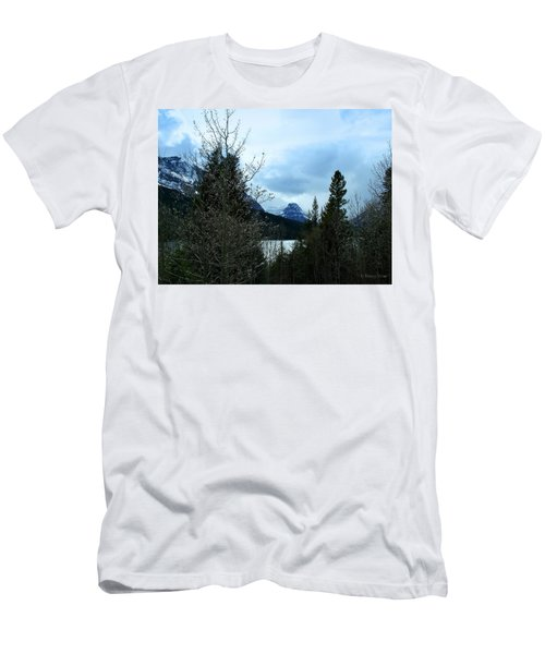 Lower Two Med Lake Through The Trees Men's T-Shirt (Slim Fit)
