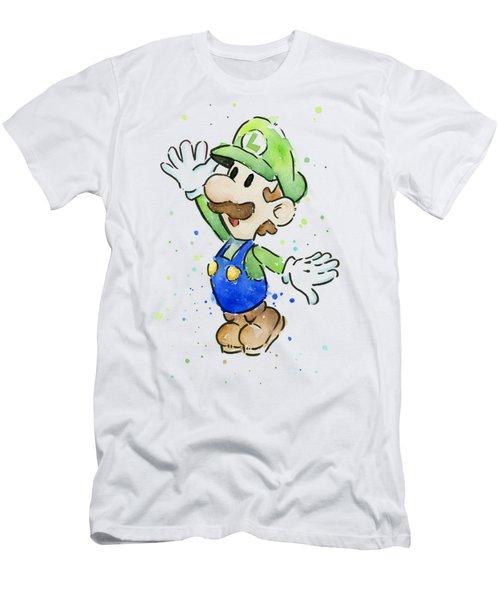 Luigi Watercolor Men's T-Shirt (Athletic Fit)