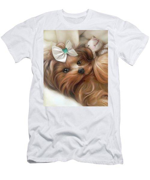 Lulu And Mr.lamb Men's T-Shirt (Slim Fit) by Catia Cho