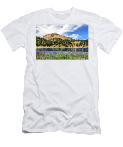 Lupines Lake And Lassen Men's T-Shirt (Athletic Fit)