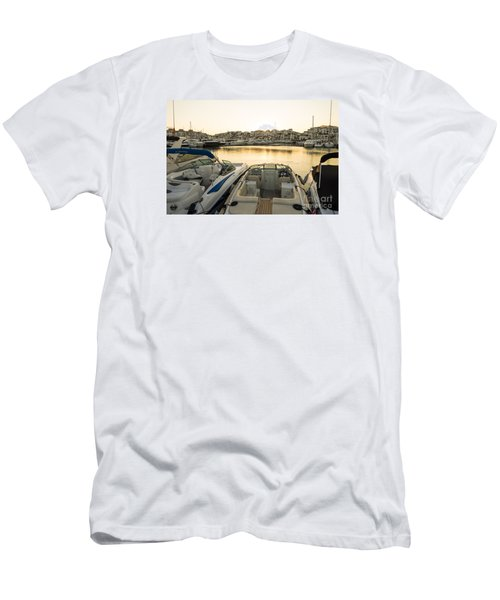 Luxury Yachts Puerto Banus Men's T-Shirt (Slim Fit) by Perry Van Munster