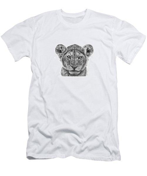Lyla The Lion Cub Men's T-Shirt (Slim Fit) by Abbey Noelle