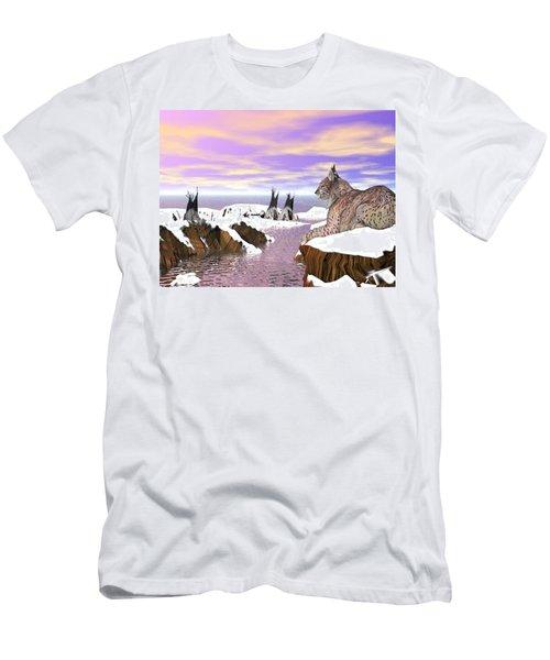 Lynx Watcher Render Men's T-Shirt (Athletic Fit)