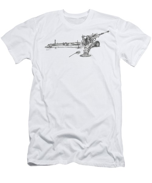 M198 Howitzer - Natural Sized Prints Men's T-Shirt (Athletic Fit)
