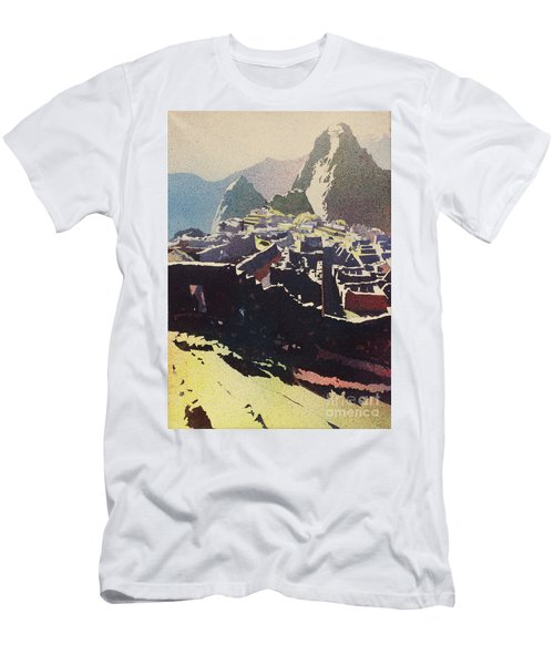 Machu Picchu Morning Men's T-Shirt (Athletic Fit)