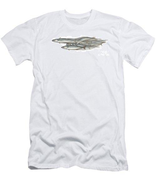 Mackerel School Of Fish - Scomber - Nautical Art - Seafood Art - Marine Art -game Fish Men's T-Shirt (Athletic Fit)
