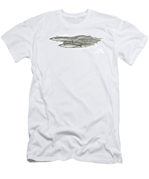 Mackerel School Of Fish - Scomber - Nautical Art - Seafood Art - Marine Art -game Fish Men's T-Shirt (Athletic Fit)