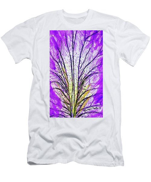 Macro Iris Petal Men's T-Shirt (Athletic Fit)