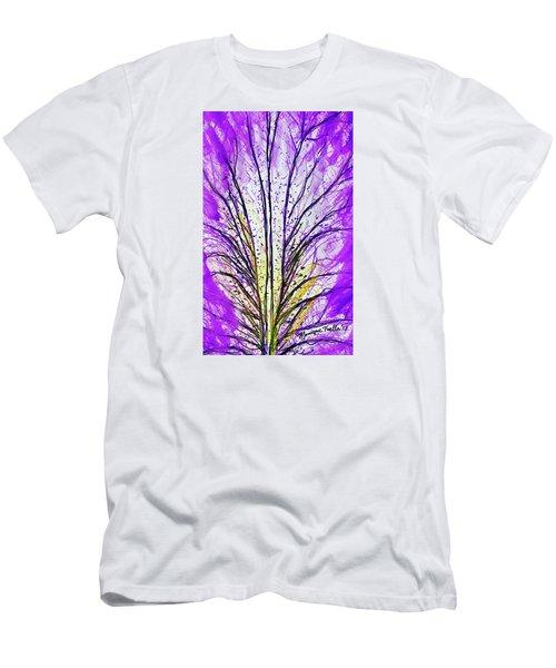 Macro Iris Petal Men's T-Shirt (Athletic Fit)
