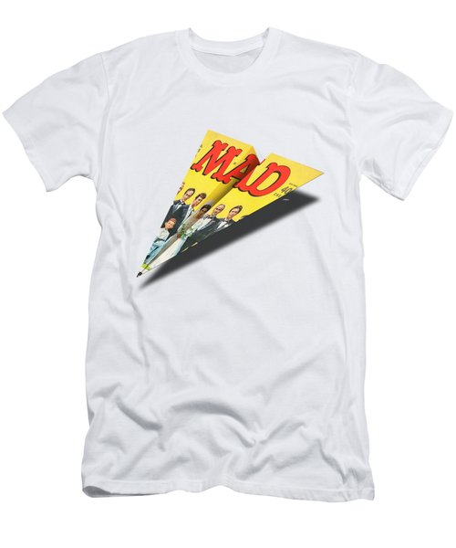 155 Mad Paper Airplane Men's T-Shirt (Athletic Fit)