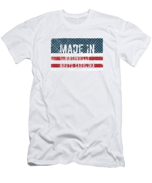 Made In Gibsonville, North Carolina Men's T-Shirt (Athletic Fit)