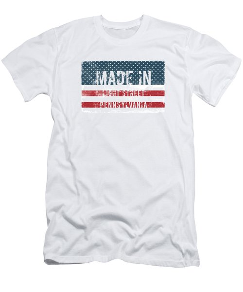 Made In Light Street, Pennsylvania Men's T-Shirt (Athletic Fit)