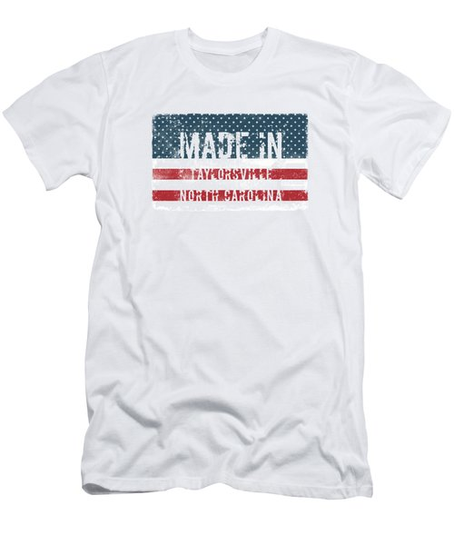 Made In Taylorsville, North Carolina Men's T-Shirt (Athletic Fit)