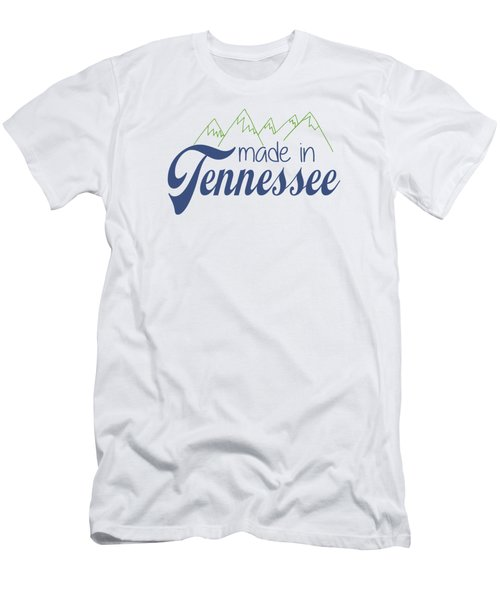 Made In Tennessee Blue Men's T-Shirt (Slim Fit) by Heather Applegate