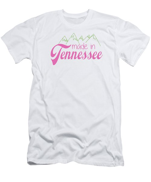 Made In Tennessee Pink Men's T-Shirt (Slim Fit) by Heather Applegate