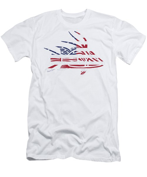 Made In The Usa Tribal Hogfish Men's T-Shirt (Athletic Fit)