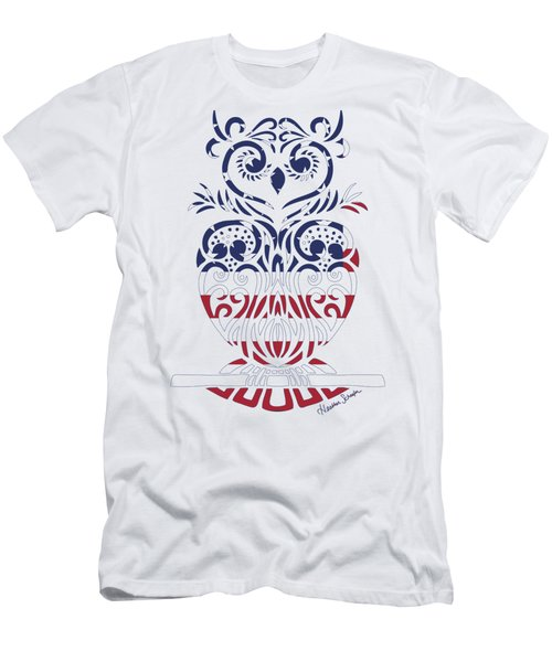Made In The Usa Tribal Owl Men's T-Shirt (Athletic Fit)