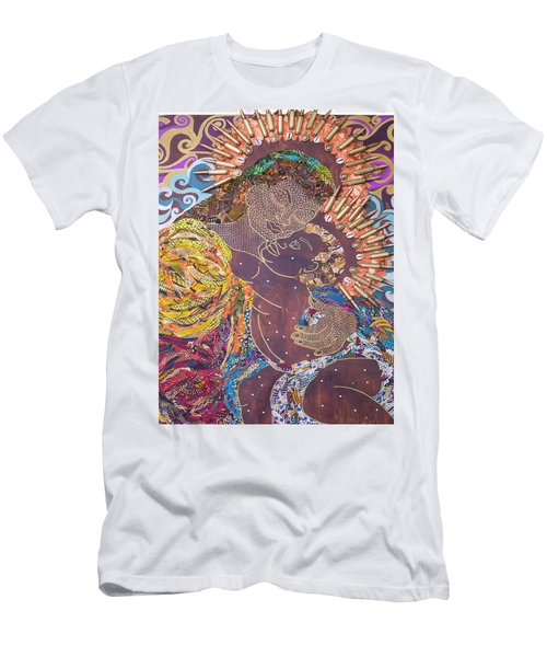 Men's T-Shirt (Athletic Fit) featuring the tapestry - textile Madonna And Child The Sacred And Profane by Apanaki Temitayo M