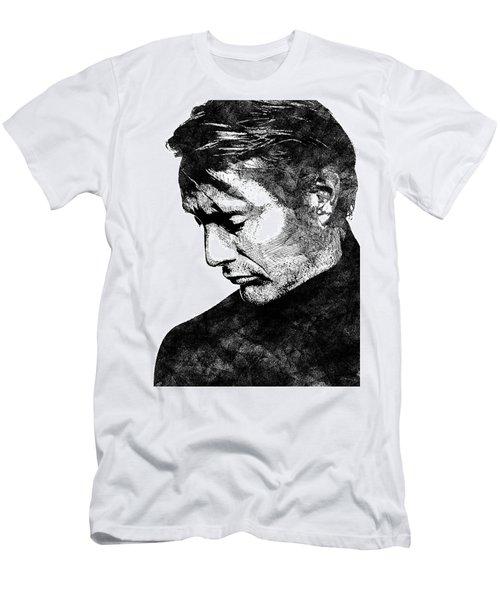 Mads Mikkelsen Men's T-Shirt (Slim Fit) by Mihaela Pater