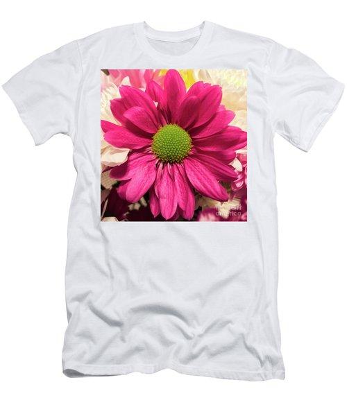 Magenta Chrysanthemum Men's T-Shirt (Athletic Fit)