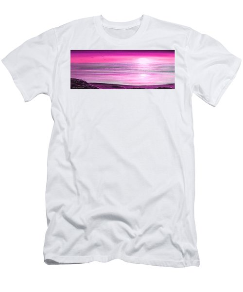 Magenta Panoramic Sunset Men's T-Shirt (Athletic Fit)