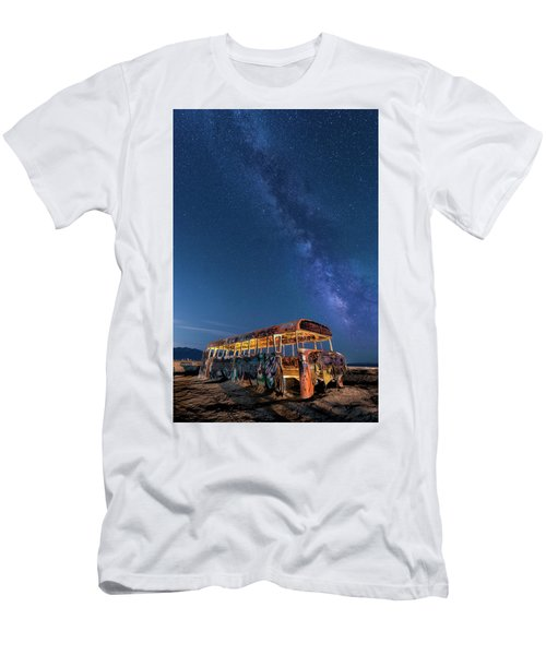 Magic Milky Way Bus Men's T-Shirt (Athletic Fit)