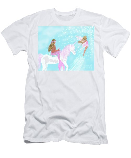 Men's T-Shirt (Athletic Fit) featuring the painting Magical Play Day by Leslie Allen