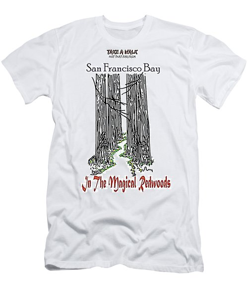 Magical Redwoods  Men's T-Shirt (Athletic Fit)