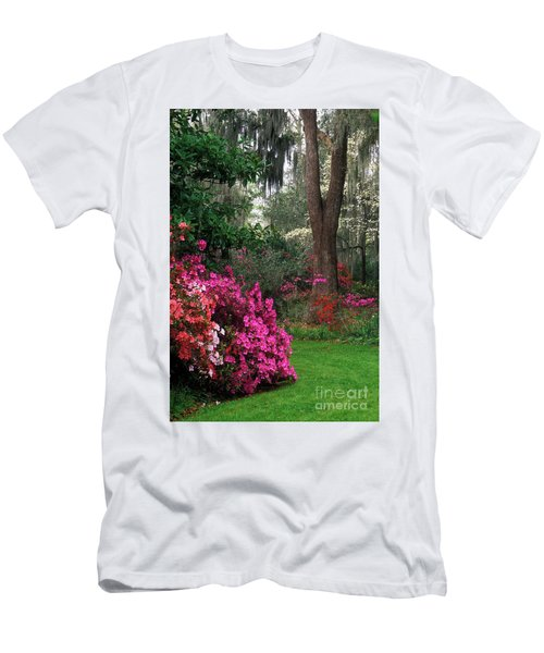 Men's T-Shirt (Slim Fit) featuring the photograph Magnolia Plantation - Fs000148a by Daniel Dempster