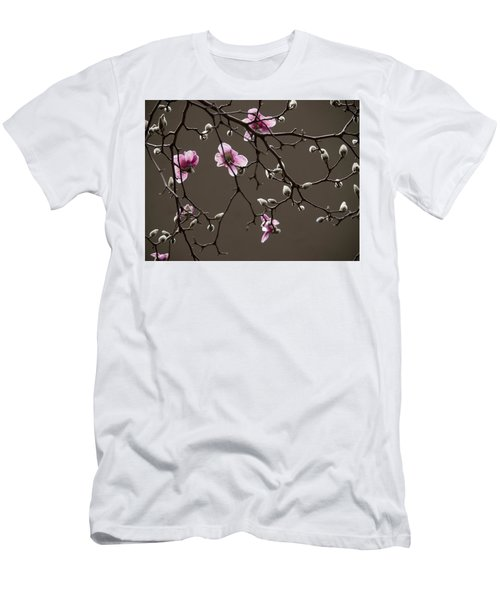 Magnolias In Bloom Men's T-Shirt (Slim Fit) by Rob Amend