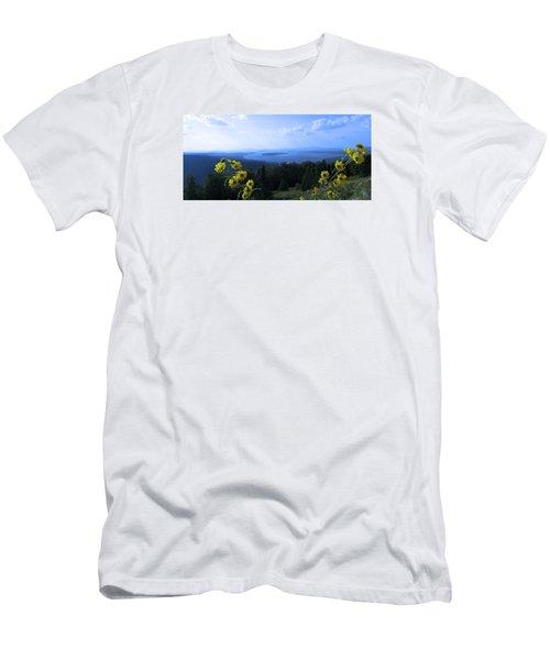Maine Mountain Vistas Men's T-Shirt (Slim Fit) by Mike Breau