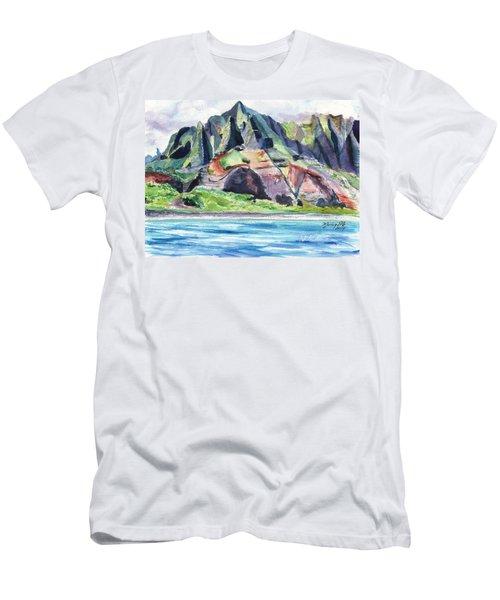 Majestic Na Pali Coast Men's T-Shirt (Athletic Fit)