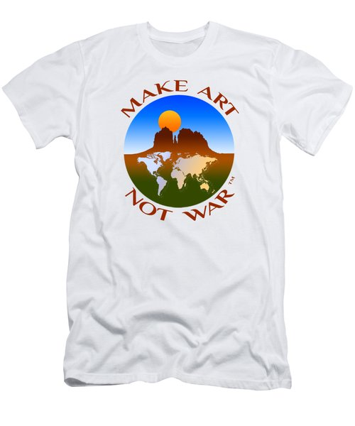 Make Art Not War Logo Men's T-Shirt (Athletic Fit)